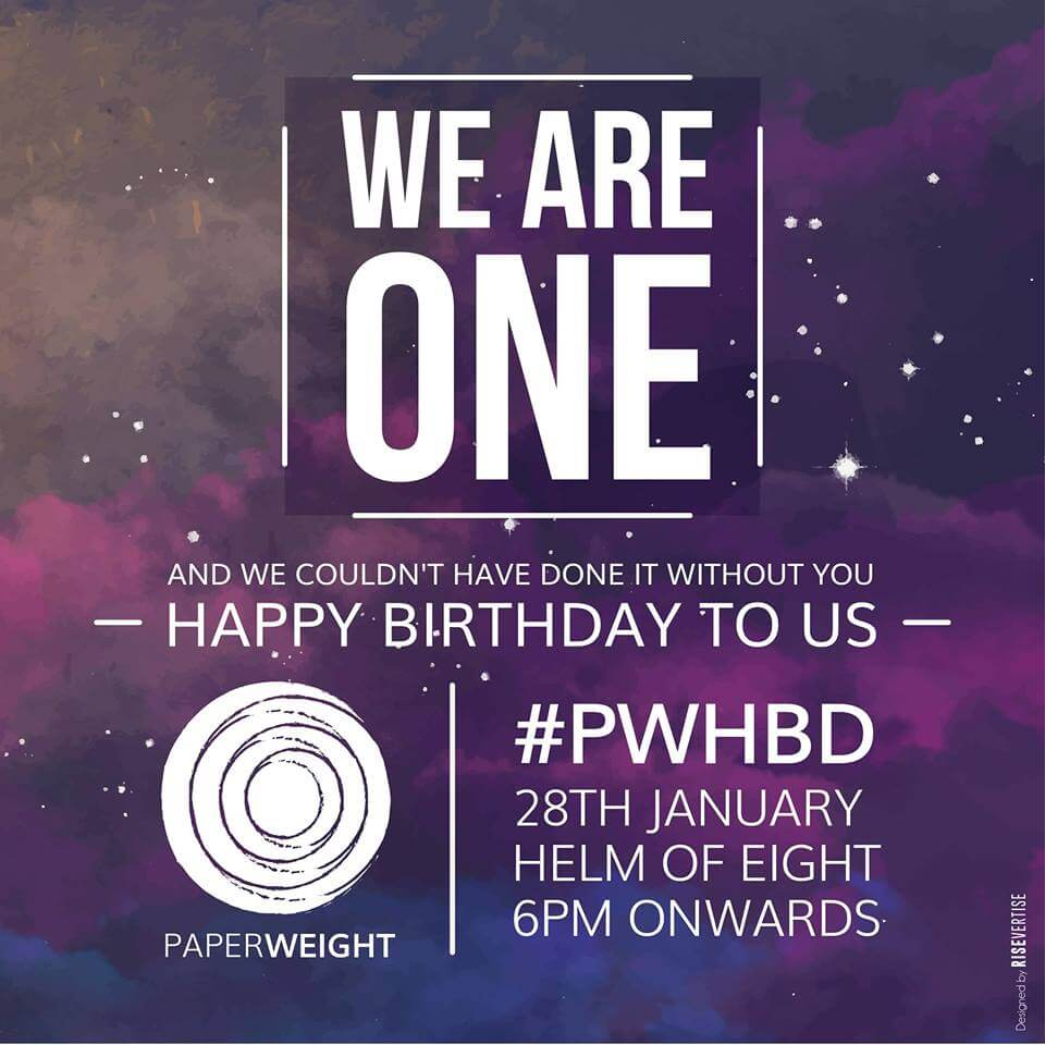 Happy Birthday to PaperWeight Event Picture