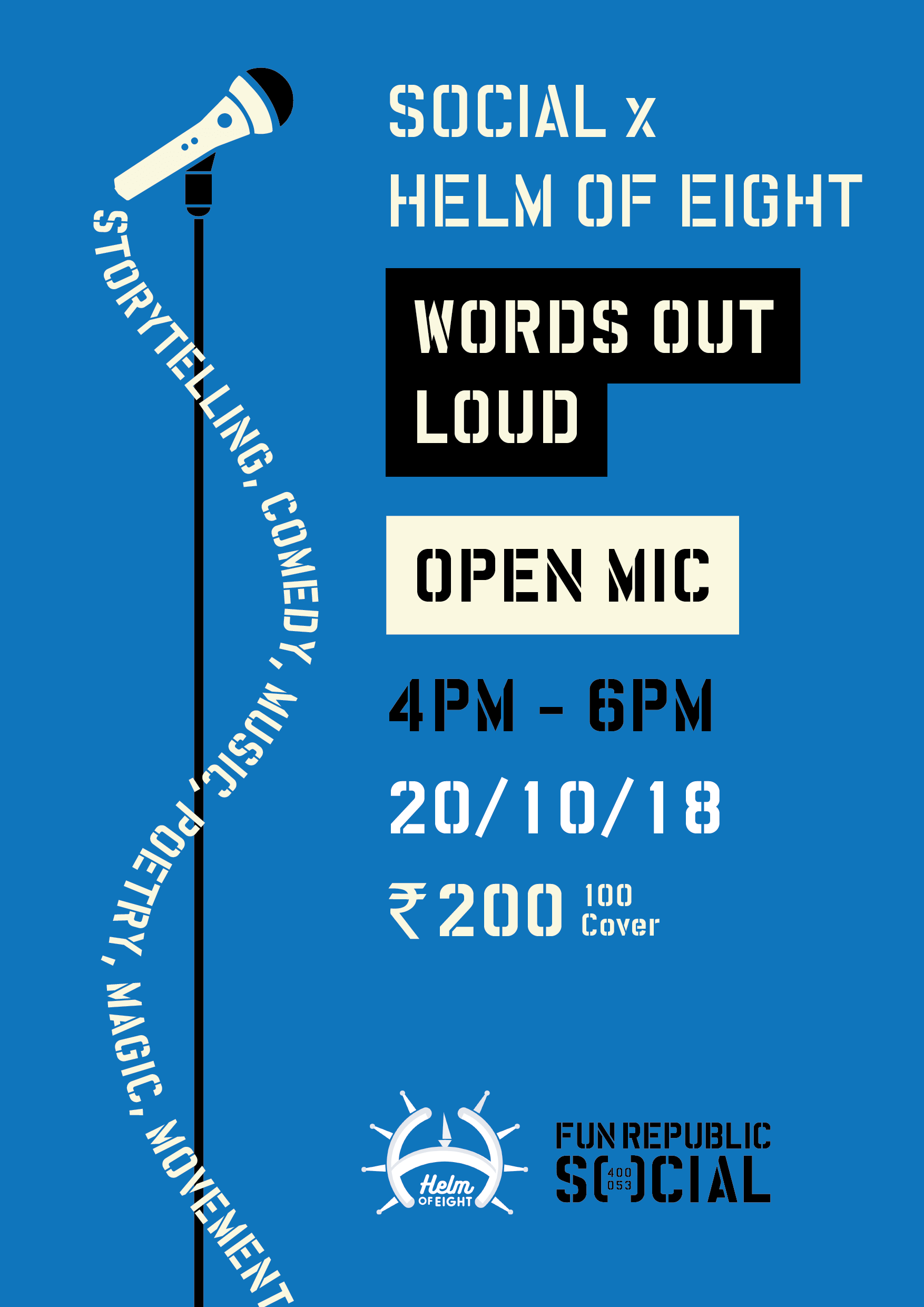 Social x Helm of Eight: Words Out loud Open Mic Event Picture