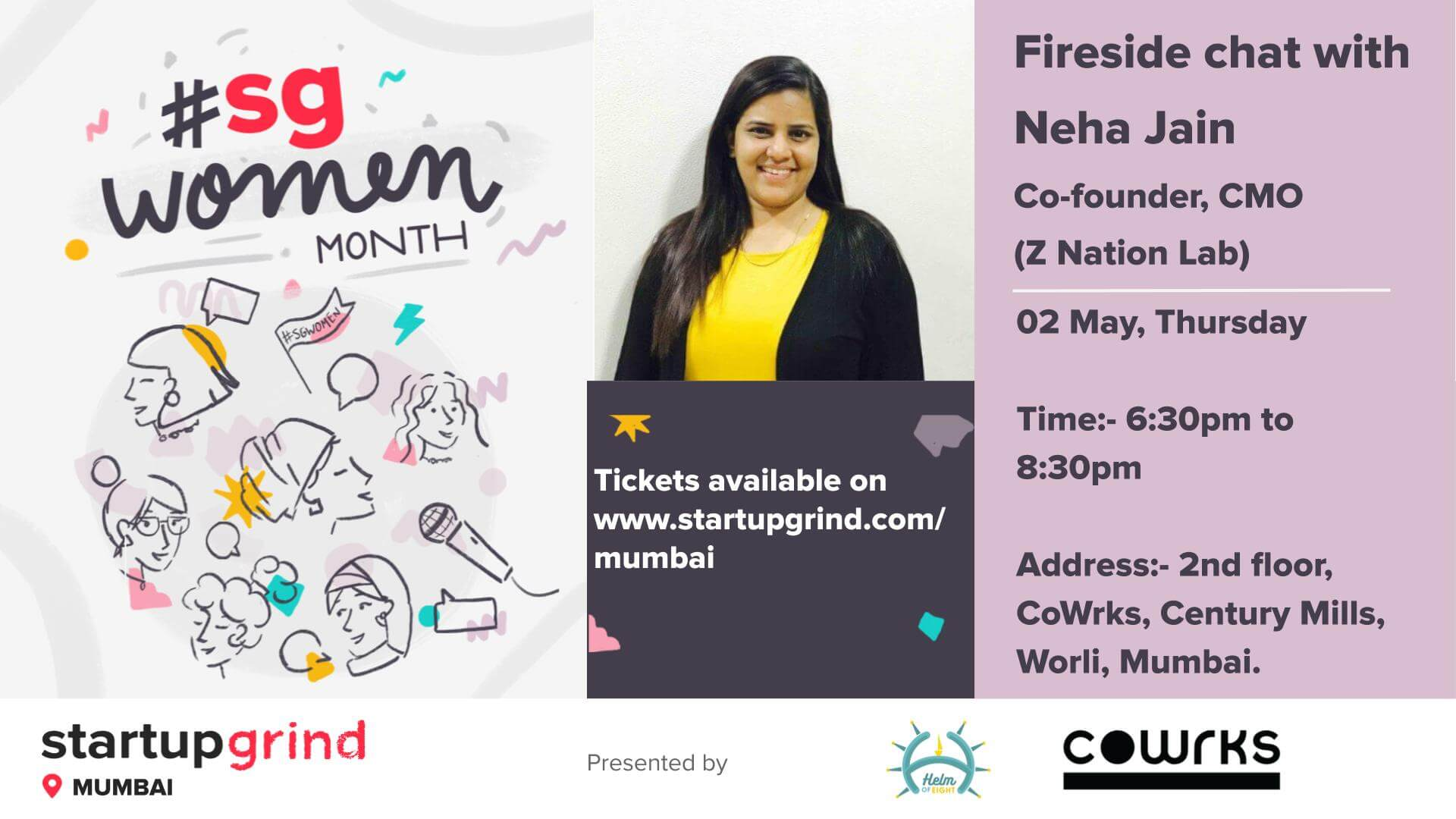 Startup Grind Fireside chat with Neha Jain (Z Nation Lab) img